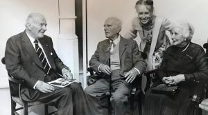 Josep Tarradellas, amb Apel·les i Nicole Fenosa.