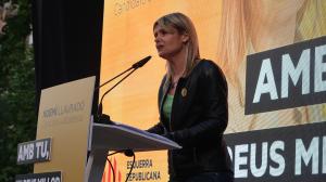 La cap de llista, Noemí Llauradó a l'acte de campanya
