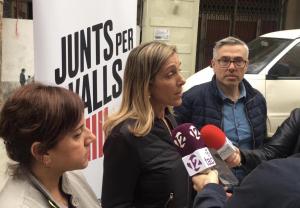 La roda de premsa s'ha dut a terme a la plaça de l'Oli de Valls