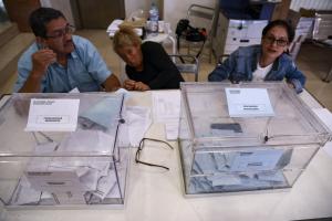 L'ambient dels col·legis electorals durant les eleccions Municipals del 26-M