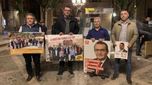 Les quatre candidatures que opten a l'alcaldia de Montblanc.