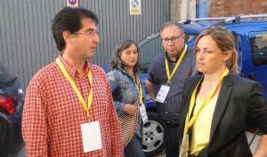 Marc Robert i Eva Mata, esperant els resultats de les municipals.