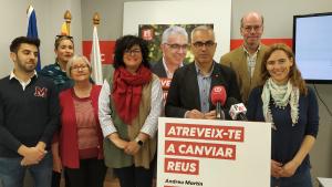 Membres de la candidatura del PSC de Reus han acompanyat Andreu Martín