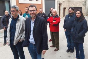 Membres del grup promotor del manifest de suport a la coalició d'ERC i Som Poble al Vendrell.
