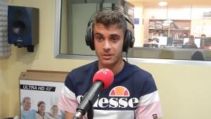Pol Prats durant l'entrevista a Tarragona Ràdio