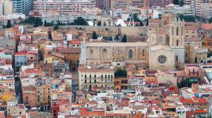 Vista aèria de Tarragona amb la Catedral de protagonista.