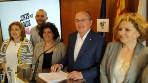 Carles Pellicer ha exposat l'acord per a la investidura que han assolit amb ERC