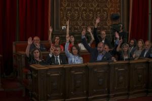 Constitució del nou Ajuntament de Tarragona amb l'alcalde Pau Ricomà