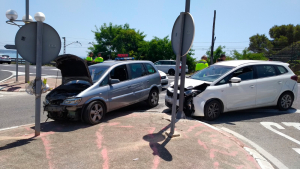 Dos vehicles han col·lidit a l'N-340 a Tarragona