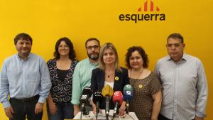 El futur grup municipal d'ERC Reus ha comparegut per valorar la situació postelectoral