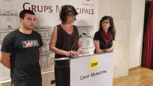El grup municipal de la CUP exposa el seu posicionament