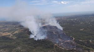 Els Bombers han donat per estabilitzat l'incendi del Perelló