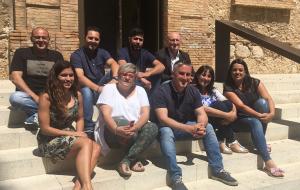 Els regidors de l'equip de govern de l'Ajuntament de Calafell.
