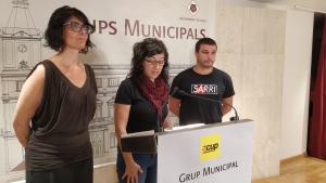 Els tres regidors de la CUP a Reus ho han anunciat aquest divendres al matí.