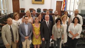 Foto de família del govern de Reus, establert aquest divendres