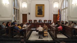 Imatge de la darrera sessió del ple del mandat 2015-2019
