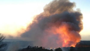 Imatge de l'incendi a la Ribera d'Ebre