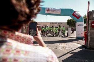 Imatges de la pedalada Solidària organitzada per Bicicamp
