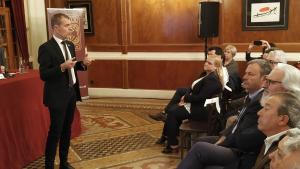 Josep Maria Cruset, president de l'Autoritat Portuària, durant la seva conferència