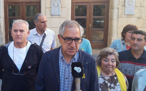Josep Maria Llasat, amb diferents membres de Primàries el Vendrell.