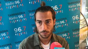 Miguel Palanca durant l'entrevista al Sempre Nàstic