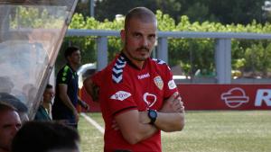 Albert Company durant el matx contra l'Espanyol B de dissabte passat