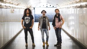 El grup de rock La Fuga actua a la Festa Major de l'Arboç.
