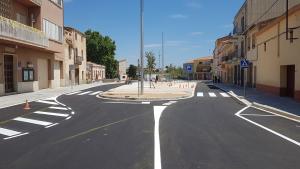 Imatge del nou accés a Llorenç del Penedès