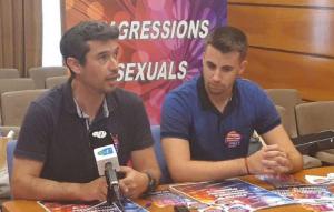 Kenneth Martínez i Cristian Soriano, presentant la campanya.