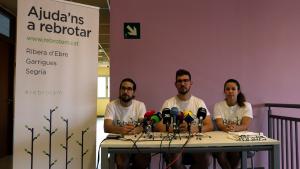 La plataforma Rebrotem presenta la campanya per recaptar diners pels afectats de l'incendi de la Ribera d'Ebre