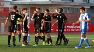 Montero celebra el gol amb els seus companys