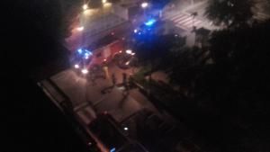Quatre dotacions de bombers han treballat en l'incendi