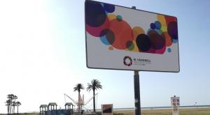 Un dels cartells que promociona el Vendrell com a Capital de la Cultura Catalana 2020.