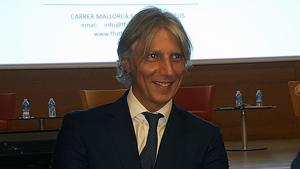 David López durant la presentació de la Fundació Futbol Base Reus