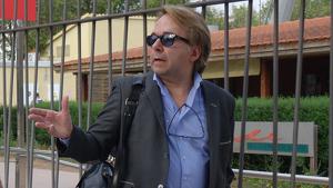David Peña a les instal·lacions de l'Estadi Municipal