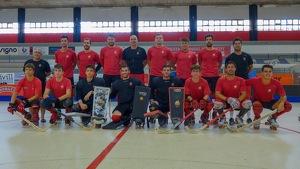 Foto de família del Reus Deportiu 2019-2020 en el primer entrenament de la temporada
