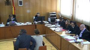 Imatge de la declaració de l'acusat davant del jurat popular, al novembre del 2017.