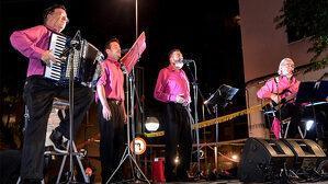 Imatge dels Sopa de Peix en un dels seus concerts.