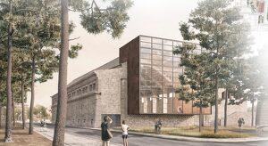 Imatge virtual de com quedarà el Celler Noucentista de Vila-seca per la seva façana posterior.