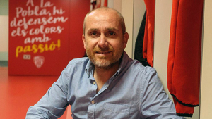 Iván Carrasco en una imatge als vestidors pobletans