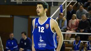 Jordi Barberà durant una acció del CBT-Zornotza de la temporada 2015-2016