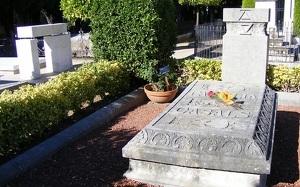 La tomba de Pau Casals, al cementiri del Vendrell.