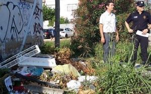Un dels punts on es detecten abocaments il·legals, a barri marítim de Sant Salvador.
