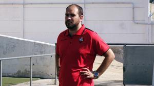 David Cabildo durant un dels pocs entrenaments del CF Reus d'Onolfo