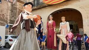 Imatge de la ballada del gegant Pastor Baleta d'Alforja