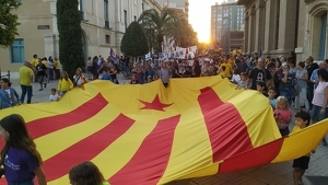 Imatge de la manifestació independentista a Reus.
