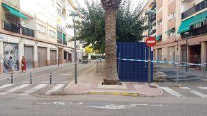 Imatge de la Rambla del Pilar, amb els primers materials de treball, aquest dimarts al matí.