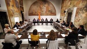 Imatge de la reunió de l'estratègia País Viu amb la comarca de la Ribera d'Ebre