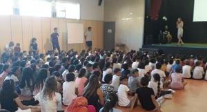 Inici del nou curs al nou institut-escola del Botafoc, al Vendrell.