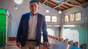Joan Josep Garcia, alcalde d'Alforja, a les instal·lacions de TarragonaDigital
